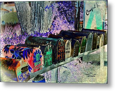 Madrid Mailboxes Metal Print