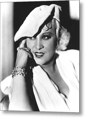 Mae West, Paramount Pictures, Ca. Mid Metal Print by Everett