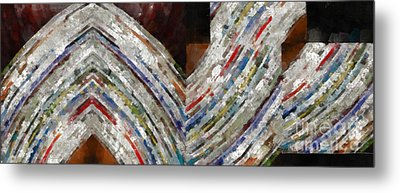 Mag 5 Abstract Painting Metal Print by Edward Fielding