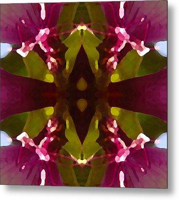 Magent Crystal Flower Metal Print by Amy Vangsgard