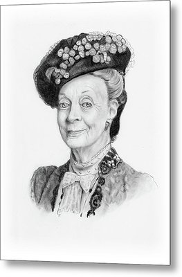 Maggie Smith As The Dowager Countess, Downton Abbey Metal Print by Joyce Geleynse