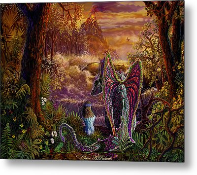 Metal Print featuring the painting Magic Evening by Steve Roberts