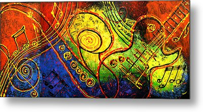 Magic Guitar Metal Print
