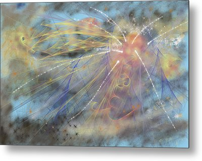 Magic In The Skies Metal Print by Angela A Stanton