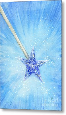 Metal Print featuring the painting Magic Wand by Cindy Garber Iverson