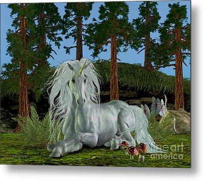 Magic Woodland Metal Print by Corey Ford