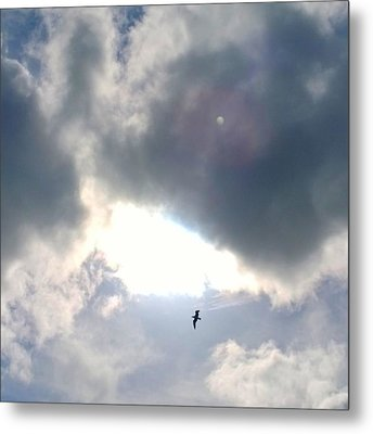Magical #clouds Today :-) #sky #weather Metal Print by Shari Warren