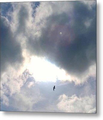 Magical #clouds Today :-) #sky #weather Metal Print