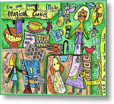 Magical Cookies A Collaboration With Eva Miller Metal Print by Susan  Shie