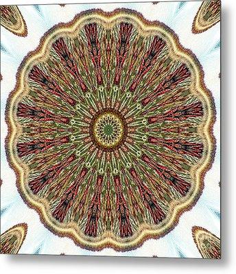 Magical Mosaic - Shamanic Power Circle 1 Metal Print by Sofia Metal Queen