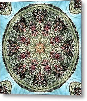 Magical Mosaic - Shamanic Power Circle 2 Metal Print by Sofia Metal Queen
