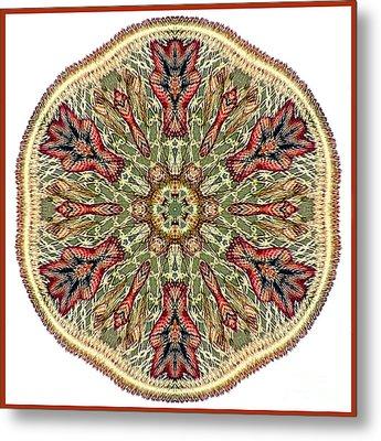 Magical Mosaic - Shamanic Power Circle 3 Metal Print by Sofia Metal Queen