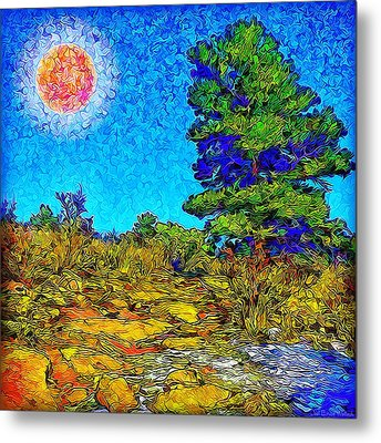 Metal Print featuring the digital art Sparkling Mountain Sunshine - Boulder County Colorado by Joel Bruce Wallach