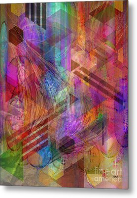 Magnetic Abstraction Metal Print by John Beck