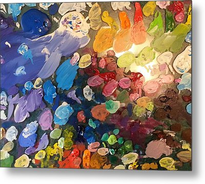 Magnetic Paint Palette Metal Print by Tanielle Childers