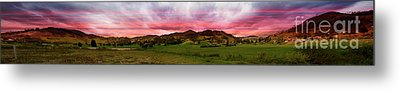 Magnificent Andes Valley Panorama Metal Print by Al Bourassa