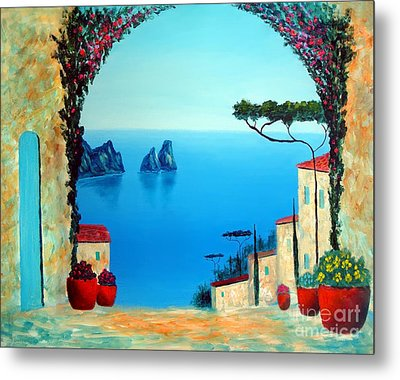 Magnificent Capri Metal Print by Larry Cirigliano