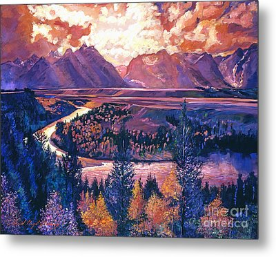 Magnificent Grand Tetons Metal Print by David Lloyd Glover