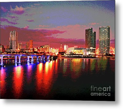 Magnificent Miami Sunrise Metal Print by Larry Oskin