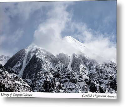 Magnificent Mountains In Telluride In Colorado Metal Print by Carol M Highsmith