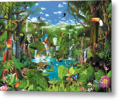 Magnificent Rainforest Metal Print by Gerald Newton