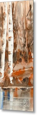 Magnificient  -  Watercolour Metal Print by Mohamed Hirji