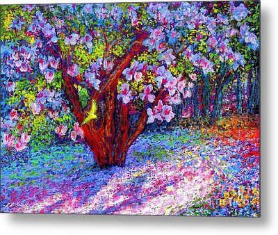 Magnolia Melody Metal Print by Jane Small