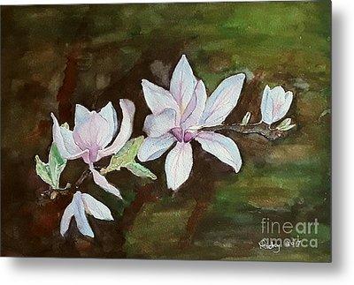 Magnolia - Painting  Metal Print