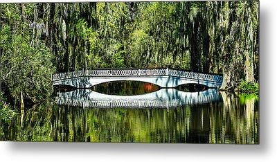 Magnolia Plantation Bridge - Charleston Sc Metal Print