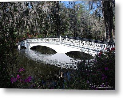 Magnolia Plantation Bridge Metal Print