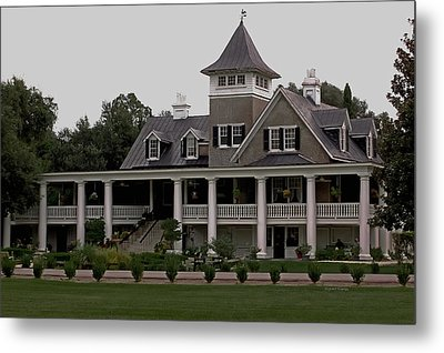 Magnolia Plantation Home Metal Print by DigiArt Diaries by Vicky B Fuller