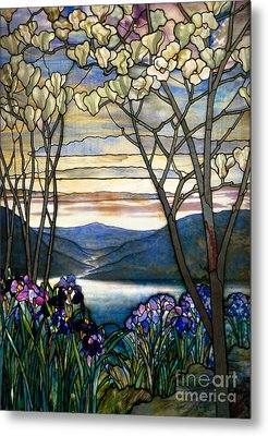 Magnolias And Irises Metal Print by Louis Comfort Tiffany