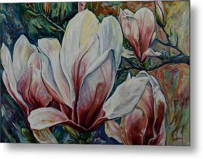 Magnolias Metal Print by Rick Nederlof