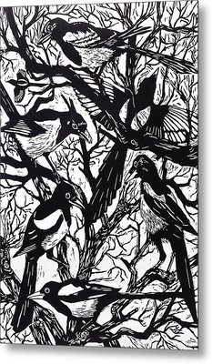 Magpies Metal Print
