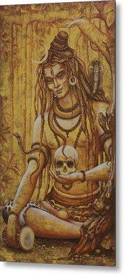 Mahadev. Shiva Metal Print by Vrindavan Das