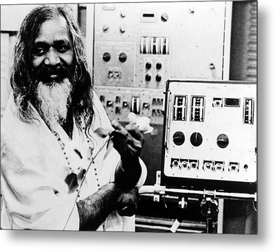 Maharishi Mahesh Yogi, Late 1960s Metal Print by Everett