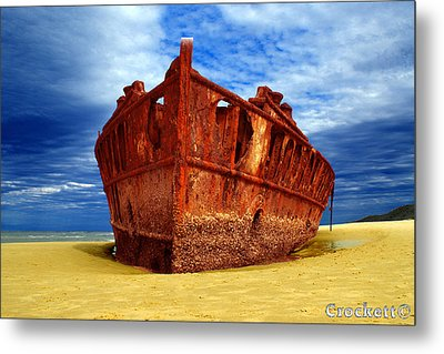 Metal Print featuring the photograph Maheno Shipwreck Fraser Island Queensland Australia by Gary Crockett