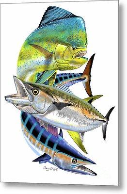 Mahi Wahoo Kingfish Metal Print