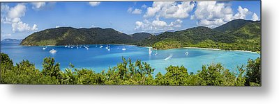 Metal Print featuring the photograph Maho And Francis Bays On St. John, Usvi by Adam Romanowicz