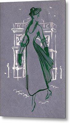 Metal Print featuring the drawing Mai En Paris 2 by Stuart