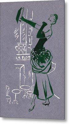 Metal Print featuring the drawing Mai En Paris 3 by Stuart