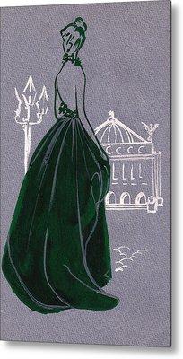 Metal Print featuring the drawing Mai En Paris 4 by Stuart