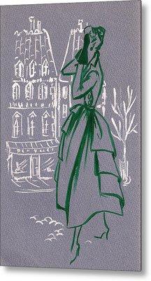 Metal Print featuring the drawing Mai En Paris 6 by Stuart
