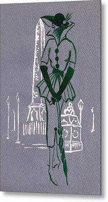 Metal Print featuring the drawing Mai En Paris 8 by Stuart