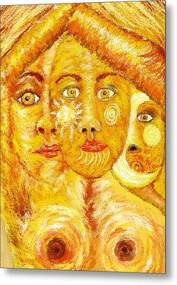 Metal Print featuring the painting Maiden Mother Crone by Shelley Bain