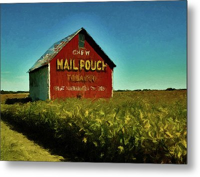 Mail Pouch Barn P D P Metal Print by David Dehner