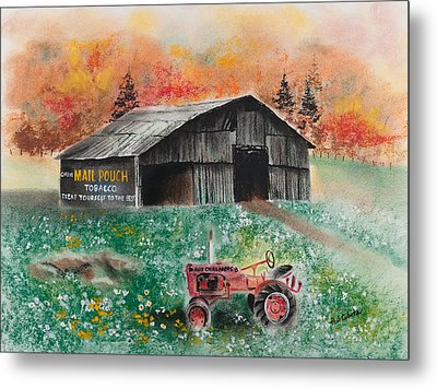 Mail Pouch Barn West Virginia 3 Metal Print by Paul Cubeta