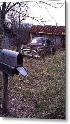 Mailbox Car Metal Print by Curtis J Neeley Jr
