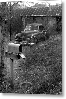 Metal Print featuring the photograph Mailboxcar by Curtis J Neeley Jr