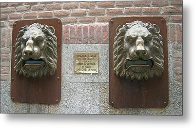 Mailboxes In Toledo Spain Metal Print by Valerie Ornstein